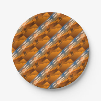 Desert landscape paper plate