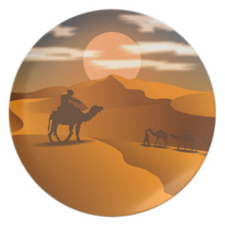 Desert landscape plate