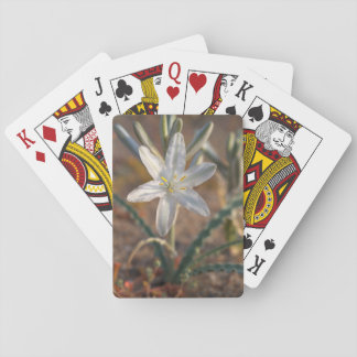 Desert Lily Wildflowers Playing Cards