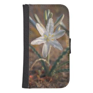 Desert Lily Wildflowers Samsung S4 Wallet Case