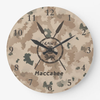 Desert Maccabee Shield And Spears Wallclock