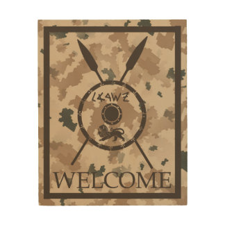 Desert Maccabee Shield And Spears - Welcome Wood Prints