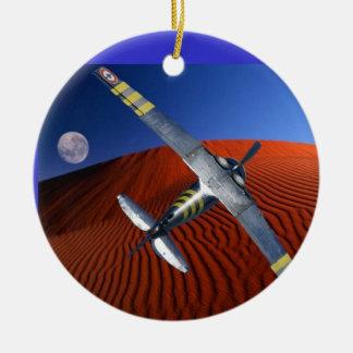 desert moon Double-Sided ceramic round christmas ornament