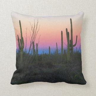 Desert Morning Colours Throw Pillow