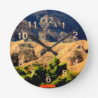 DESERT MOUNTAINS.AWESOME .MULTIPLE ITEMS WALL CLOCKS
