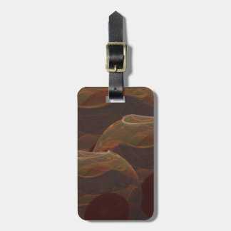 Desert Oasis Fractal Pottery Abstract Art Luggage Tag