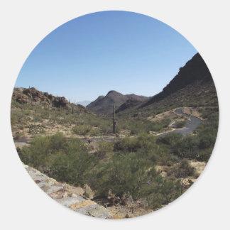 Desert Pass Round Sticker