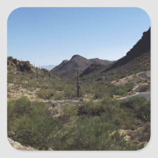 Desert Pass Square Sticker