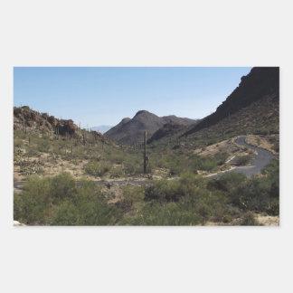 Desert Pass Rectangular Sticker