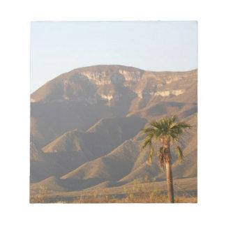 Desert ranch landscape near Monterey, Mexico. Notepad