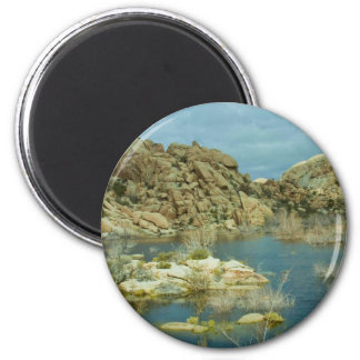Desert Reflecdtions 4 6 Cm Round Magnet