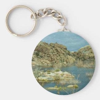 Desert Reflecdtions 4 Basic Round Button Key Ring