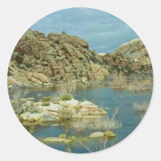 Desert Reflecdtions 4 Round Sticker