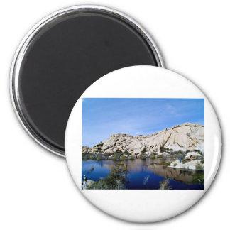 Desert Reflections 10 6 Cm Round Magnet