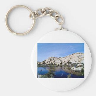 Desert Reflections 10 Basic Round Button Key Ring