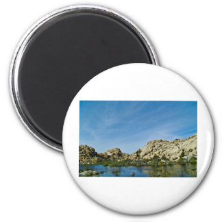 Desert reflections 11 6 cm round magnet