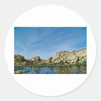 Desert reflections 11 round sticker