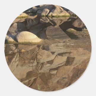 Desert Reflections 5 Classic Round Sticker
