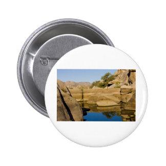 Desert Reflections 6 6 Cm Round Badge