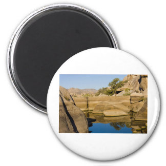 Desert Reflections 6 6 Cm Round Magnet