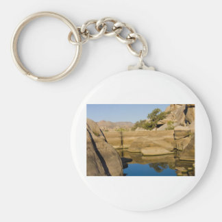 Desert Reflections 6 Basic Round Button Key Ring