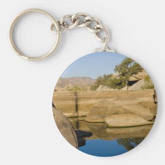 Desert Reflections 6 Basic Round Button Key Ring