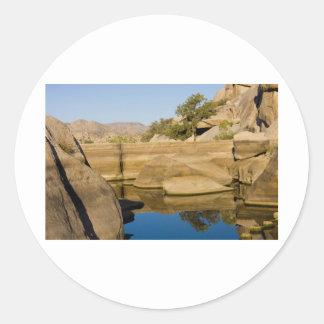 Desert Reflections 6 Classic Round Sticker
