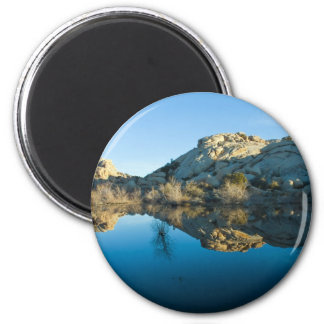 Desert Reflections 6 Cm Round Magnet