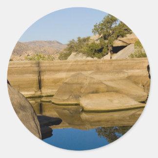 Desert Reflections 6 Round Sticker
