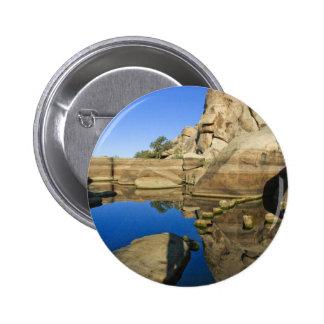 Desert Reflections 7 6 Cm Round Badge