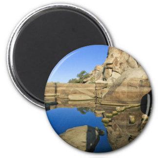 Desert Reflections 7 6 Cm Round Magnet