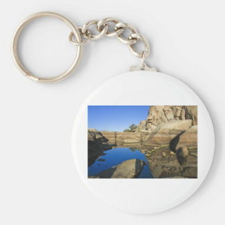 Desert Reflections 7 Basic Round Button Key Ring