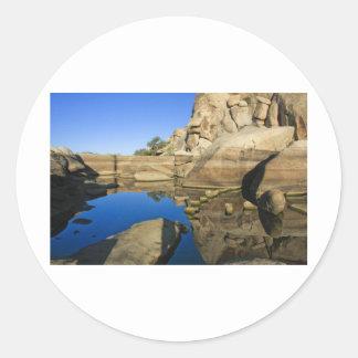 Desert Reflections 7 Round Sticker