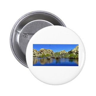Desert Reflections 9 6 Cm Round Badge