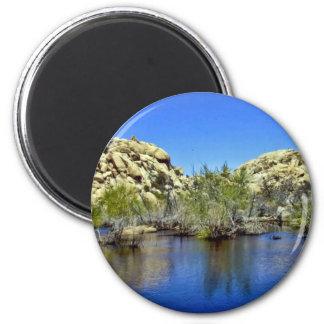 Desert Reflections 9 6 Cm Round Magnet