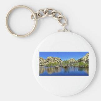 Desert Reflections 9 Basic Round Button Key Ring