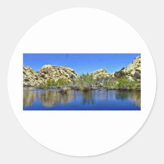Desert Reflections 9 Round Sticker