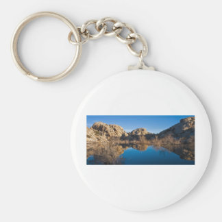 Desert Reflections Basic Round Button Key Ring