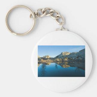 Desert Reflections Basic Round Button Key Ring