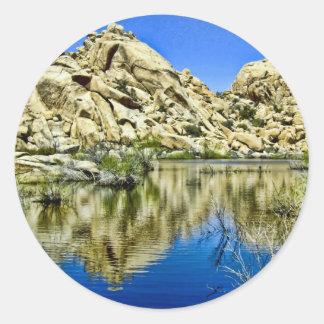Desert Reflections Classic Round Sticker
