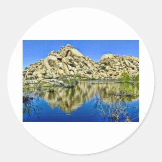 Desert Reflections Round Sticker