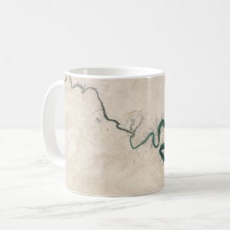 Desert River Aerial Crack Coffee Mug