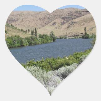 Desert River Heart Sticker