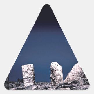 Desert rocks triangle sticker