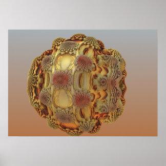 Desert Rose Sphere Poster