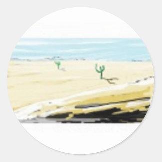 desert round sticker
