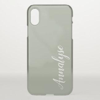 Desert Sage Grey Green Solid Color Custom iPhone X Case