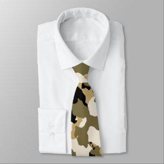 Desert Sand Camouflage Pattern Tie