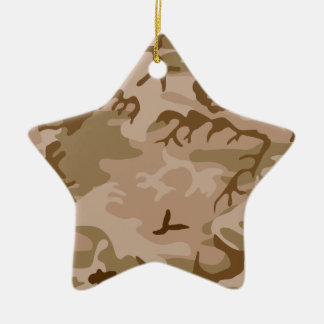 Desert Sand Camouflage Star Ornament