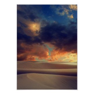 Desert Sand Cloudy Sky Beautiful Sun Holiday Poster